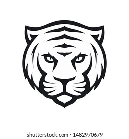 tiger animal logo vector face