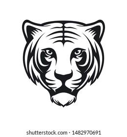 tiger animal logo vector face