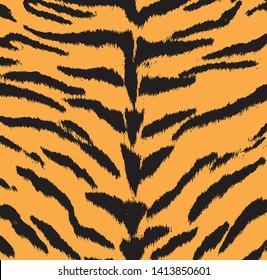 Tiger animal print pattern vector
