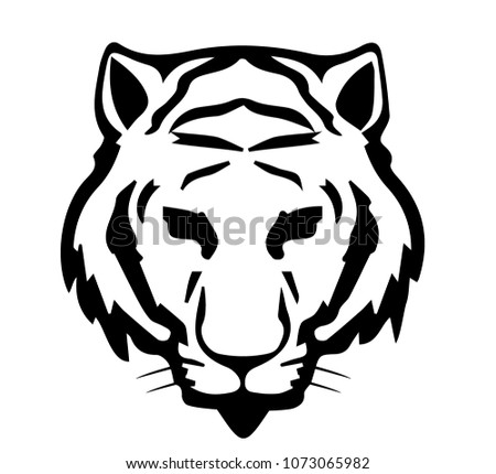 tiger black symbol stock vector royalty free 1073065982 shutterstock