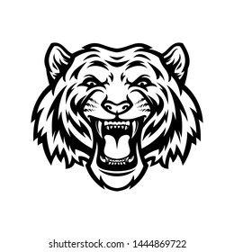 Tiger black and white logo template