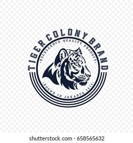 Tiger Colony Brand Logo Vector