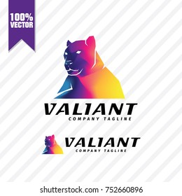 Tiger Colorful Logo Vector