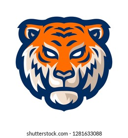 tiger e sport logo mascot template vector illustration