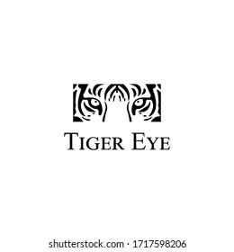 tiger eye logo. tribal tattoos. t-shirt design. cover .etc