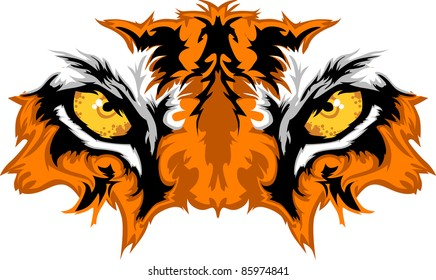 Tiger Eyes Mascot Graphic