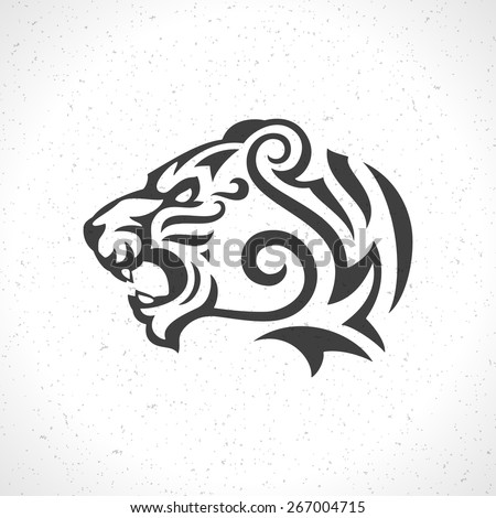 Tiger Face Logo Emblem Template Mascot Stock Vector Royalty Free