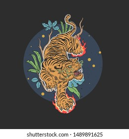 Tattoo Line Tiger Images Stock Photos Vectors Shutterstock