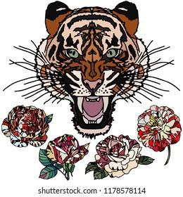 Tiger Wallpapers Stock Vectors Images Vector Art Shutterstock
