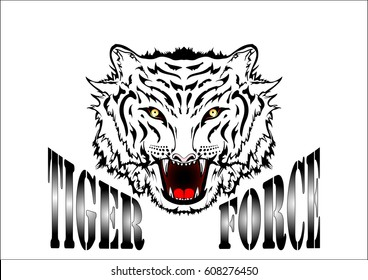 tiger force white background