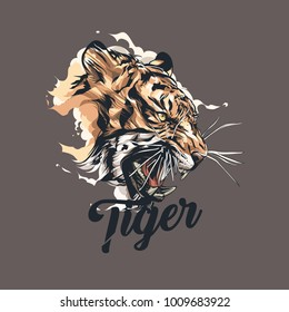 Tiger Graphic Vector Design Tshirt