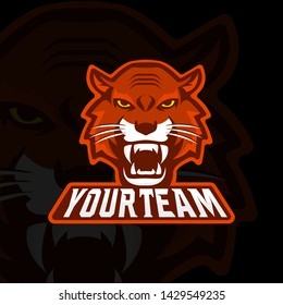 Tiger head esports logo template
