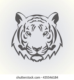 Lion Face Outline Images Stock Photos Vectors Shutterstock Simple vector illustration of elegant outline emblem template with geometric lion head line style. https www shutterstock com image vector tiger head illustration vector 435546184