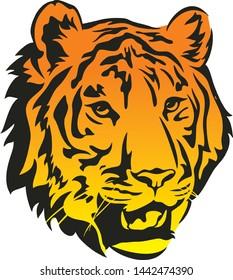 tiger head logo company vector
