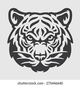 Tiger Head Logo Mascot Emblem