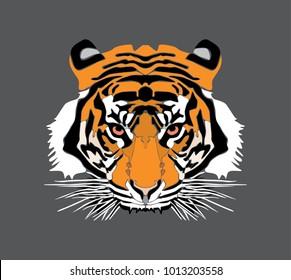 tiger head vector file