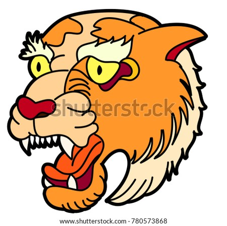611ff79adf805 Royalty-free stock vector images ID: 780573868. Tiger head vector isolate  on white background.traditional tattoo tiger head. - Vector