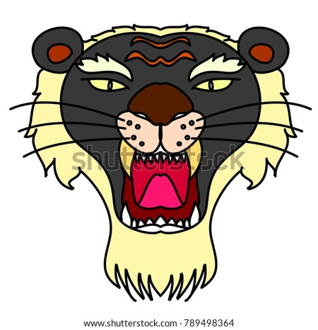 14833c556e2ea Royalty-free stock vector images ID: 789498364. Tiger head vector isolate  on white background.traditional tattoo tiger head. - Vector