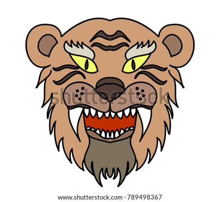 e5dba6fbd2ba3 Royalty-free stock vector images ID: 789498367. Tiger head vector isolate  on white background.traditional tattoo tiger head. - Vector