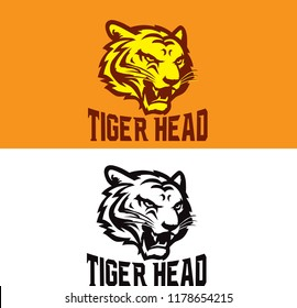 tiger head vector logo