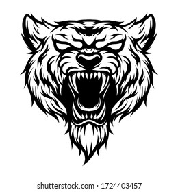 tiger head vector, a vector that is detailed and cool to print