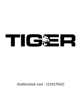 TIGER icon vector logo.