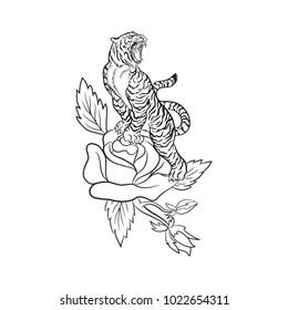 Tiger illustration, Vector