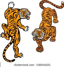 Tiger Jump. Tattoo