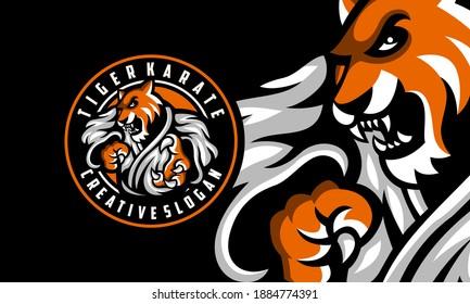 Tiger Karate Awesome Logo Design