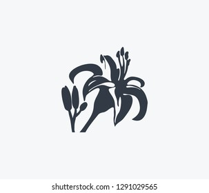 Tiger lily icon isolated on clean background. Tiger lily icon concept drawing icon in modern style. Vector illustration for your web mobile logo app UI design.