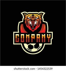 tiger logo design vector illustration mascot