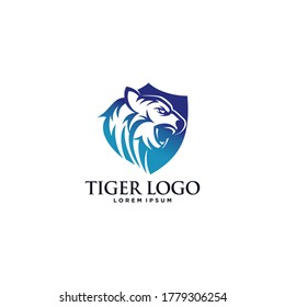 Tiger logo design vector template