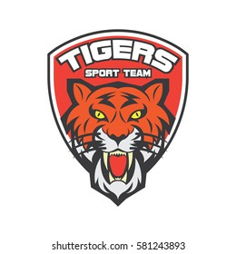 Tiger logo in sport theme