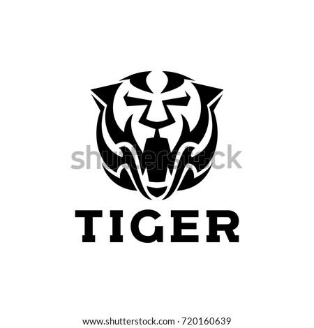 Tiger Logo Template Stock Vector Royalty Free 720160639 Shutterstock