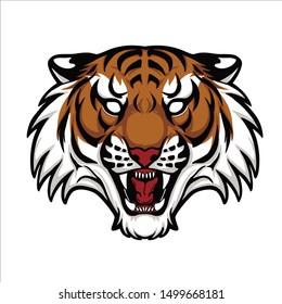 tiger logo vector tamplate design