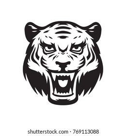 Tiger mascot logo. Wildcat head. Vector illustration, EPS 10.