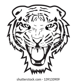 Tiger Head Outline Images, Stock Photos & Vectors | Shutterstock