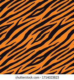 Tiger Pattern Background Design Template