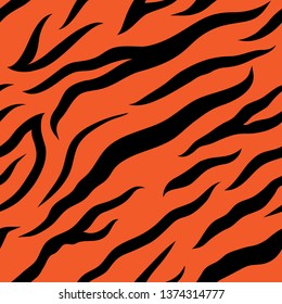 tiger pattern design funny drawing seamless pattern