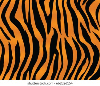 Tiger pattern, print, stripes, skin, texture, design, decor, illustration, wallpaper, background, seamless, vector, isolated