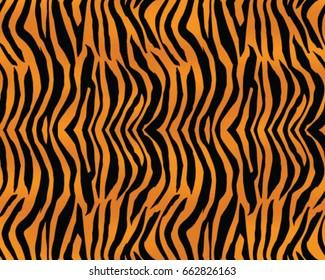 Tiger pattern, print, stripes, skin, texture, design, decor, illustration, wallpaper, background, seamless, vector, isolated