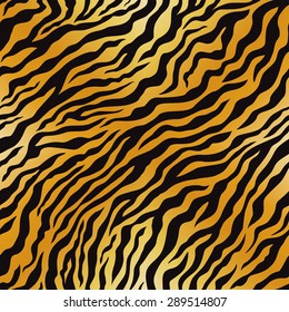 Tiger pattern. Vector seamless