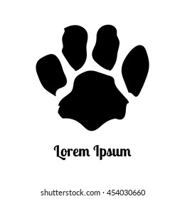 tiger paw. black. trail. imprint