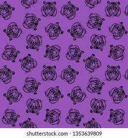 Tiger Print for fashion, home, stationary, wallart, anything fun and cool. Seamless vector pattern
