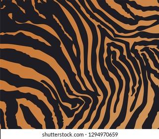 Tiger skin animal print