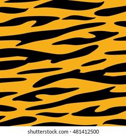 Tiger Skin animal texture wallpaper Vector