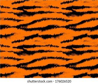 Tiger skin seamless pattern, animal background, vector illustration