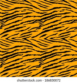 Tiger skin seamless vector pattern