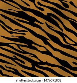 Tiger skin texture abstract background orange black line. Jungle strip