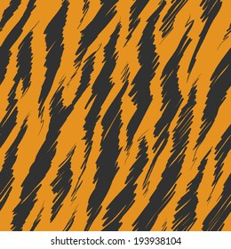 Tiger Stripes Skin Seamless Pattern
